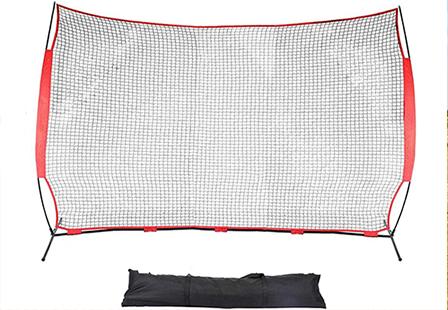 Portable softball hitting backstop practice barrier baseball net