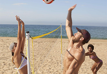 Outdoor Portable Training Practice Volleyball Net Set Stand